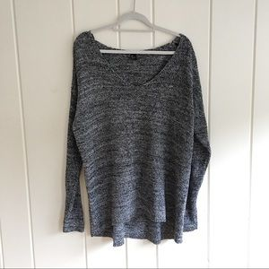 H&M tunic heathered scoop neck sweater